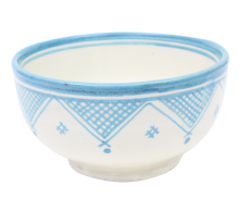 Moroccan Ceramic Bowl Beldi Style Handmade Choice of 3 colours and designs 13 cm / 5.12 ""